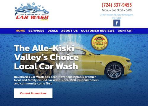 Carwash Website Design for Buchard's Carwash