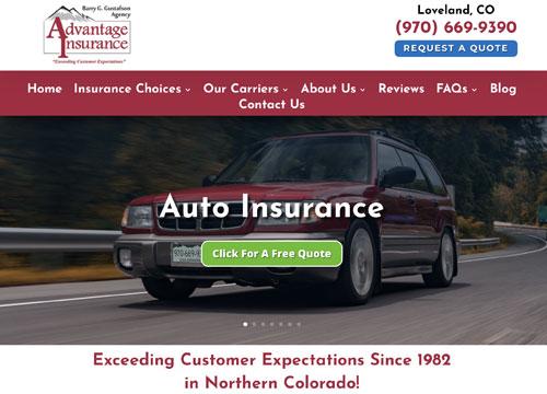 Advantage Insurance Website Design